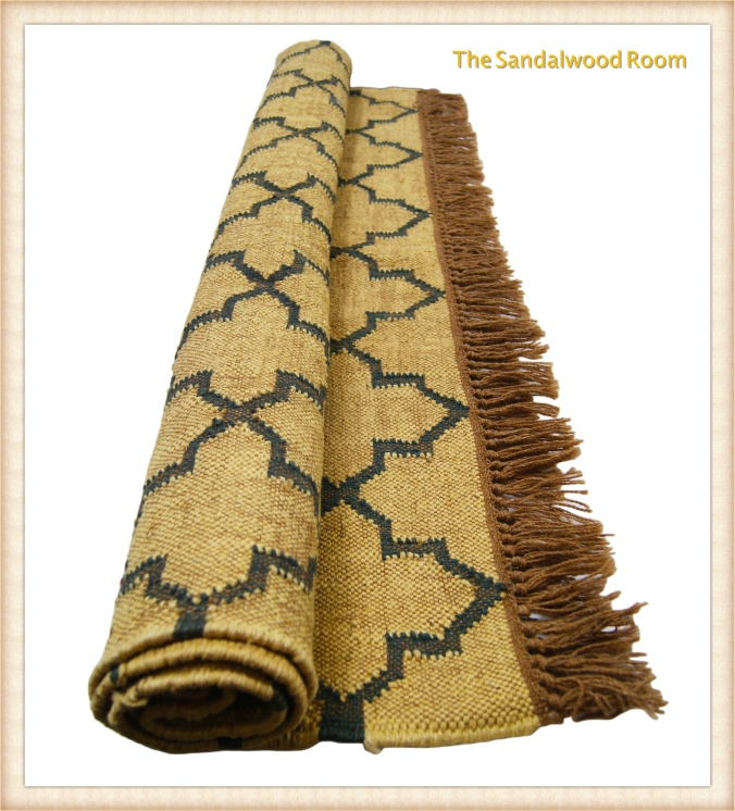 tsr-rug-beige-grey-rolled_fotor, handknotted, the sandalwood room