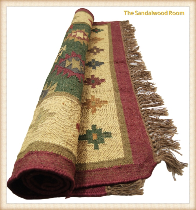 tsr-rug-multicoloured-rolled_fotor ethnic look, the sandalwood room