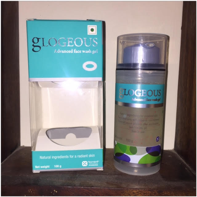 glogeous advanced face wash gel packaging and dispenser, my thought lane